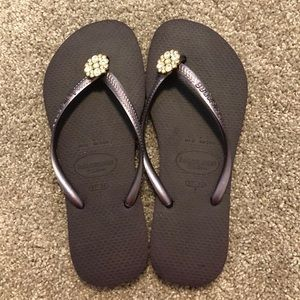 Havaianas Slim Purple Jewel Flip Flops